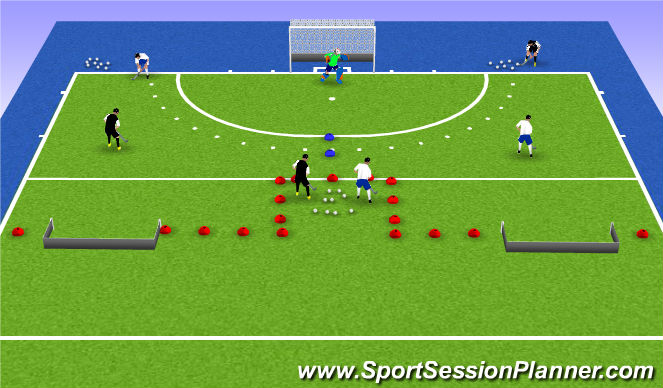 Hockey Session Plan Drill (Colour): Deel 1