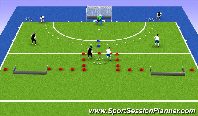 Hockey Session Plan Drill (Colour): Deel 1