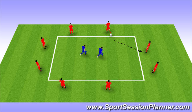 Football/Soccer Session Plan Drill (Colour): Possession Square