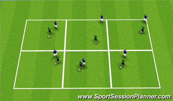 Football/Soccer Session Plan Drill (Colour): King of the Box