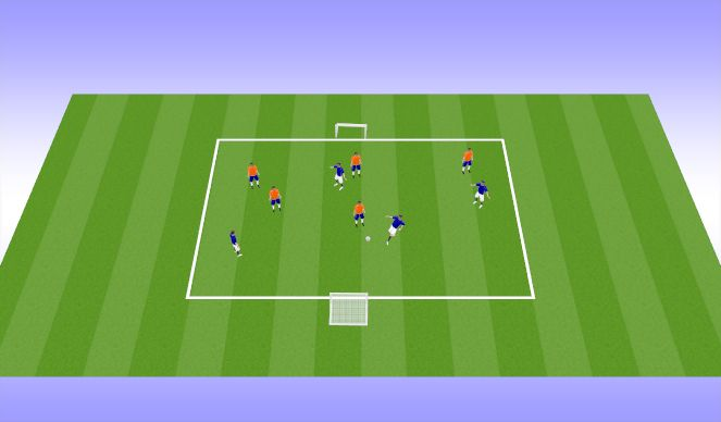 Football/Soccer Session Plan Drill (Colour): Expanded Side Activity