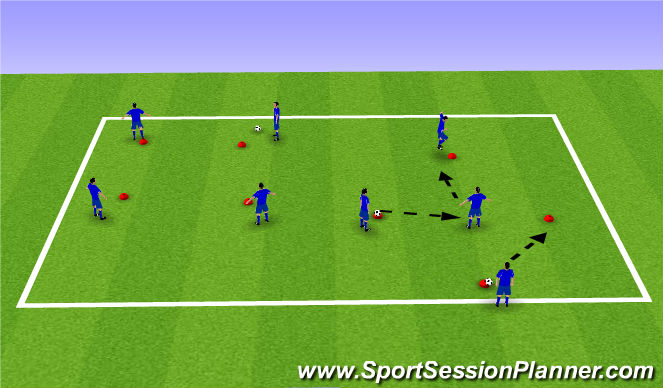 Football/Soccer Session Plan Drill (Colour): square work