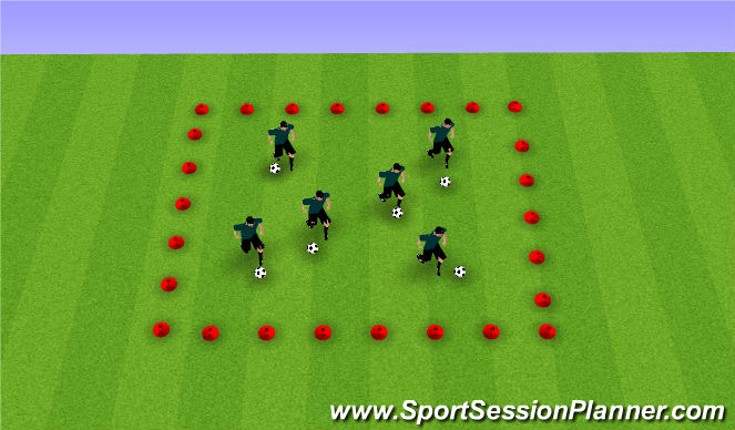 Football/Soccer Session Plan Drill (Colour): isoccer