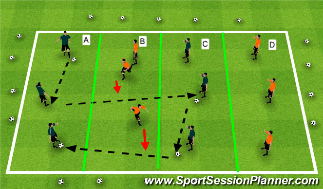 Football/Soccer Session Plan Drill (Colour): Warm Up(fussbal)