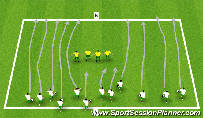 Football/Soccer Session Plan Drill (Colour): Group Defending Activity