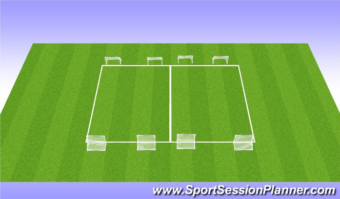 Football/Soccer Session Plan Drill (Colour): Pointyball with volley to finish