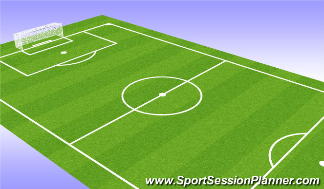 Football/Soccer Session Plan Drill (Colour): Zombie Build-Up Play