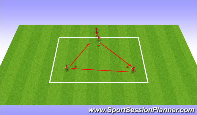 Football/Soccer Session Plan Drill (Colour): Ajax passing drill