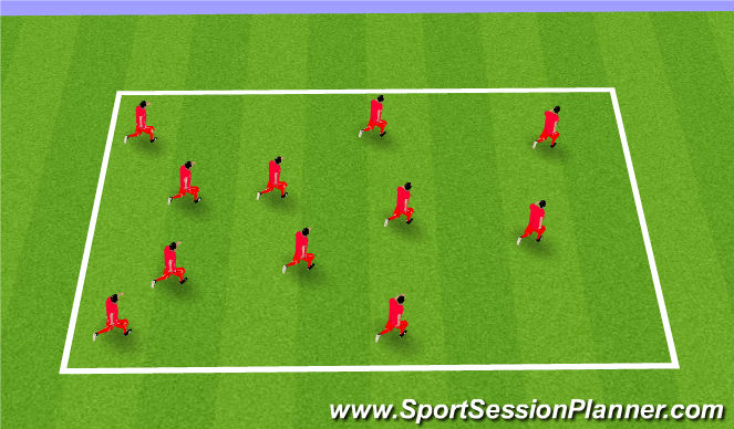Football/Soccer Session Plan Drill (Colour): Ball Familarity Warm Up