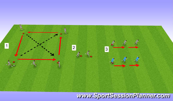 Football/Soccer Session Plan Drill (Colour): U16s, Week 29, Session 1, Strength Speed