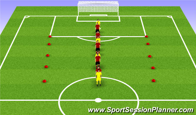 Football/Soccer Session Plan Drill (Colour): Reaction Speed