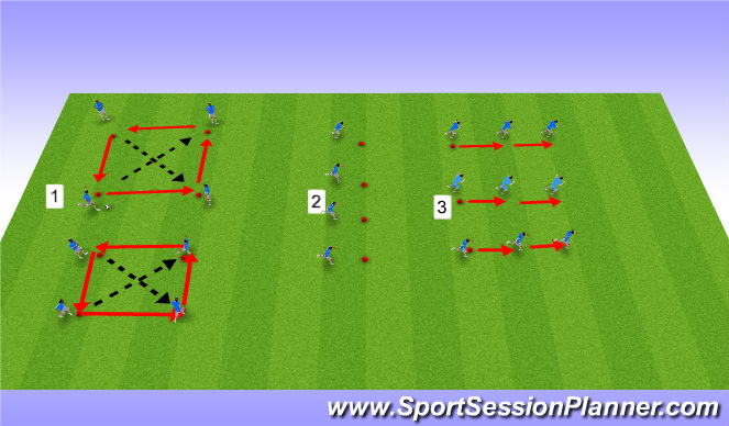 Football/Soccer Session Plan Drill (Colour): Strength / Speed