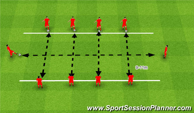 Football/Soccer Session Plan Drill (Colour): Torpedy.