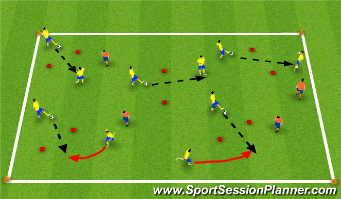 Football/Soccer Session Plan Drill (Colour): Passing Activity #1