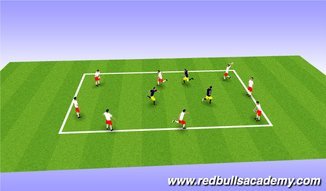 Football/Soccer Session Plan Drill (Colour): Warm-up game.