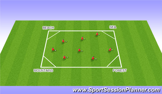 Football/Soccer Session Plan Drill (Colour): Dora the Explorer