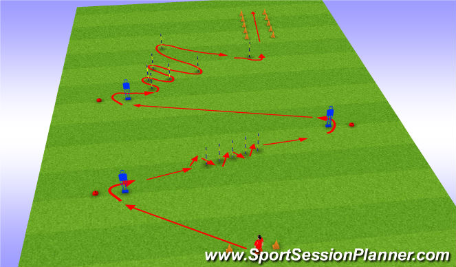 Football/Soccer Session Plan Drill (Colour): Without ball