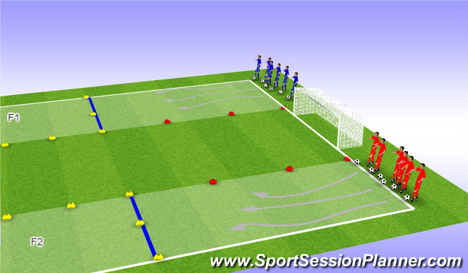 Football/Soccer Session Plan Drill (Colour): Warming-up