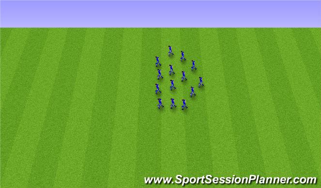 Football/Soccer Session Plan Drill (Colour): Endurheimt