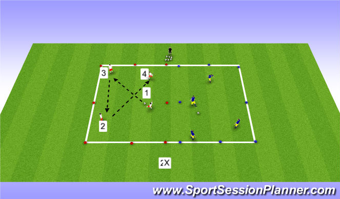 Football/Soccer Session Plan Drill (Colour): Passing Partern #1