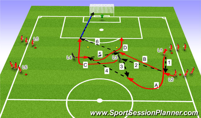 Football/Soccer Session Plan Drill (Colour): Skotæfing