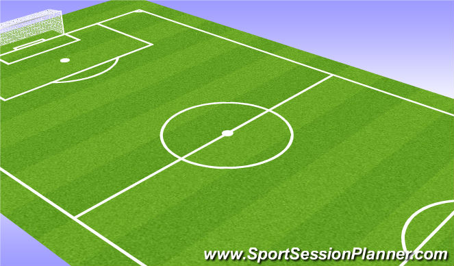 Football/Soccer Session Plan Drill (Colour): Extra Midfielder