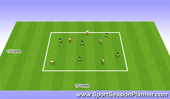 Football/Soccer Session Plan Drill (Colour): Pressure On Possession