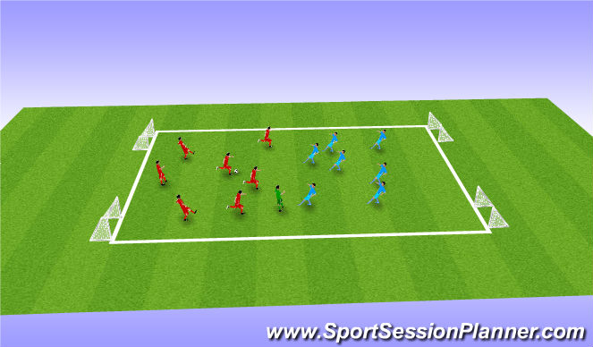 Football/Soccer Session Plan Drill (Colour): Small Sided Game 2