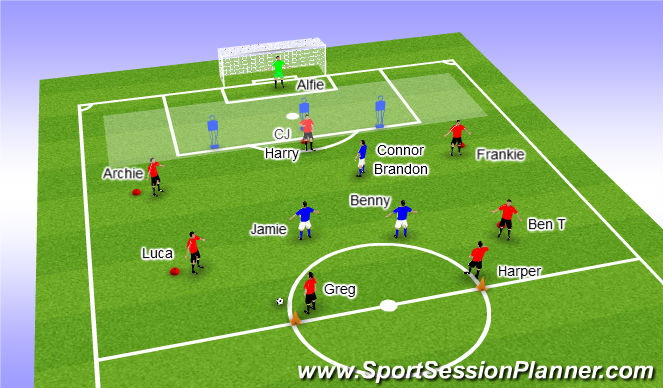 Football/Soccer Session Plan Drill (Colour): 30th Oct