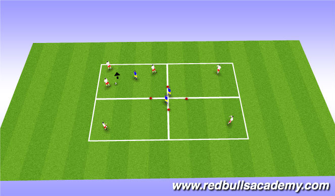 Football/Soccer Session Plan Drill (Colour): Main Theme-2