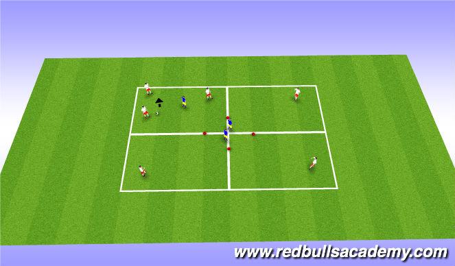 Football/Soccer Session Plan Drill (Colour): Main Theme-2