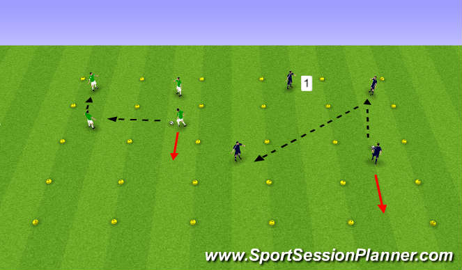 Football/Soccer Session Plan Drill (Colour): Basic Passing & Receiving