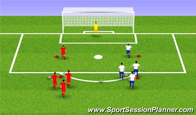 Football/Soccer Session Plan Drill (Colour): fun: wedstrijdvorm volley