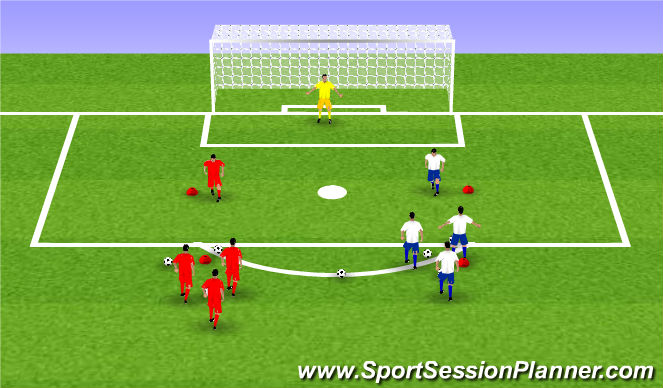 Football/Soccer Session Plan Drill (Colour): fun: wedstrijdvorm volley