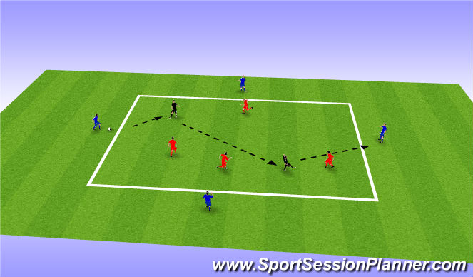 Football/Soccer Session Plan Drill (Colour): Zig-zag Through The  Pitch