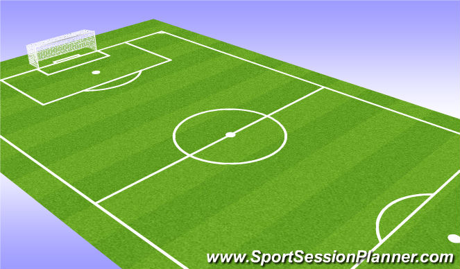 Football/Soccer Session Plan Drill (Colour): Playing Through Traffic