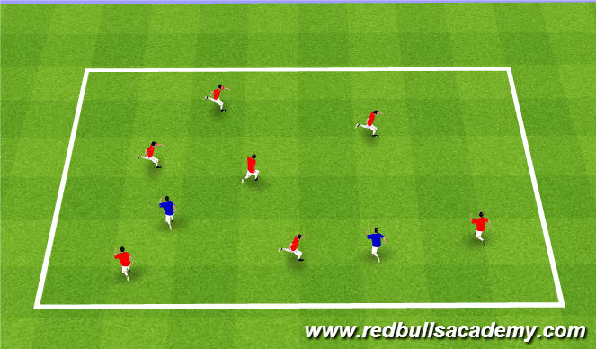 Football/Soccer Session Plan Drill (Colour): Turtle Tag
