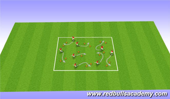 Football/Soccer Session Plan Drill (Colour): Visiting States