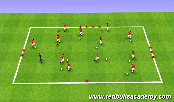 Football/Soccer Session Plan Drill (Colour): Road Trip