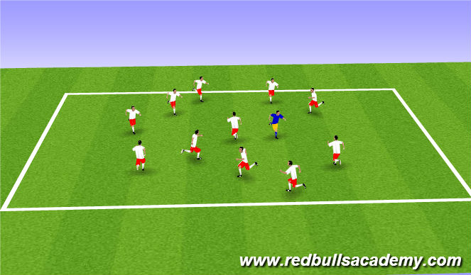 Football/Soccer Session Plan Drill (Colour): WU - Freeze Tag