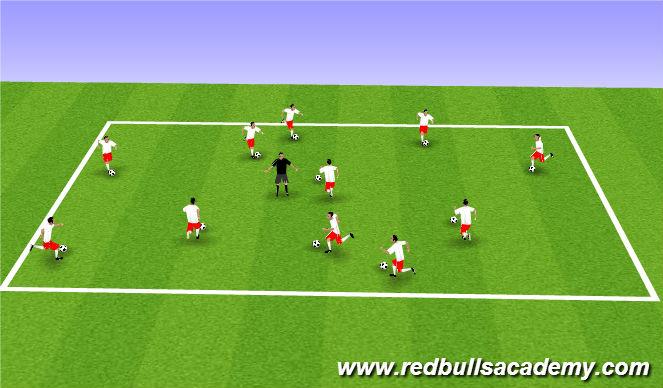 Football/Soccer Session Plan Drill (Colour): Main i - traffic lights