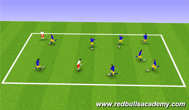 Football/Soccer Session Plan Drill (Colour): Marble King