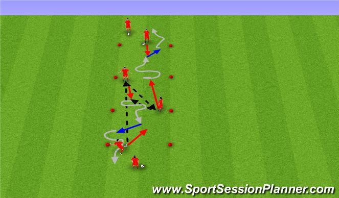 Football/Soccer Session Plan Drill (Colour): Skill Development Drill - 2