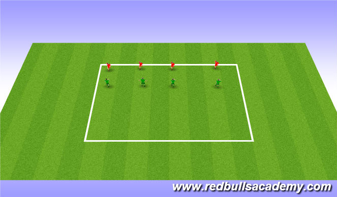 Football/Soccer Session Plan Drill (Colour): Semi Opposed shadowing