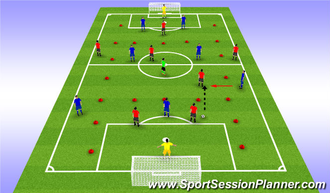 Football/Soccer Session Plan Drill (Colour): Channels 2