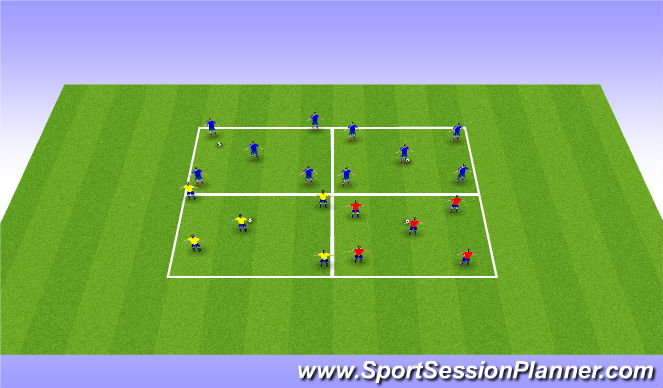Football/Soccer Session Plan Drill (Colour): Small Side Activity
