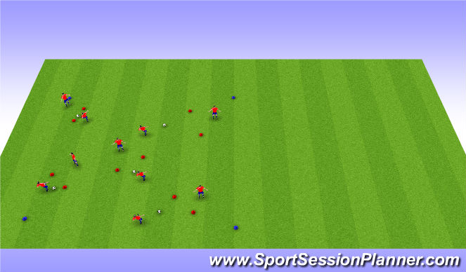 Football/Soccer Session Plan Drill (Colour): Pairs Passing Gate warmup