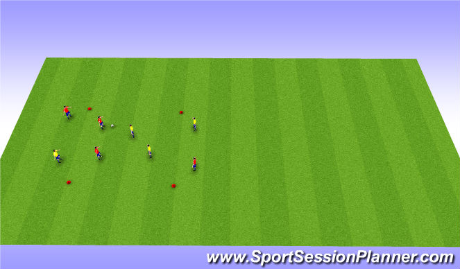 Football/Soccer Session Plan Drill (Colour): 6v2 Posession