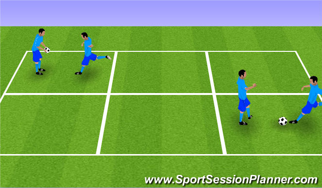 Football/Soccer Session Plan Drill (Colour): One Bounce