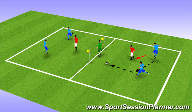 Football/Soccer Session Plan Drill (Colour): SSG #1